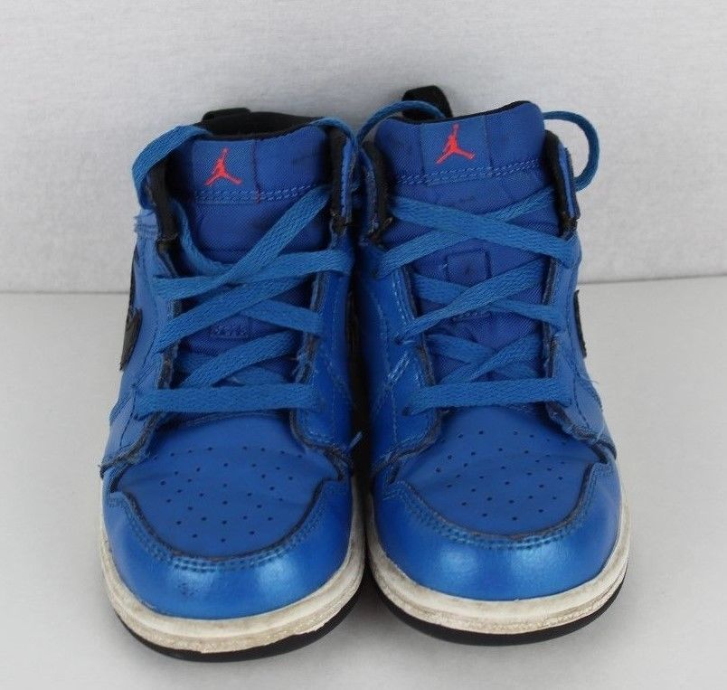 new arrival aa2ef 0eaeb Nike Air Jordan Nike toddler kids leather basketball blue lace size 8C