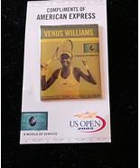 unused US Open Venus Williams Photo Pinback on original card 2005 NF - $5.35