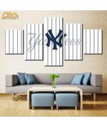 New York Yankees Wall Art Painting On Canvas Pin Strips Poster Print Hom... - $45.36+