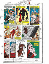 Original 1983 Red Sonja 3 page 31 Marvel Comics color guide production art:1980s - £19.57 GBP