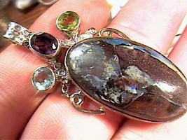 Sterling silver 925 natural boulder opal jewelry artisanal HANDMADE Grea... - $54.99