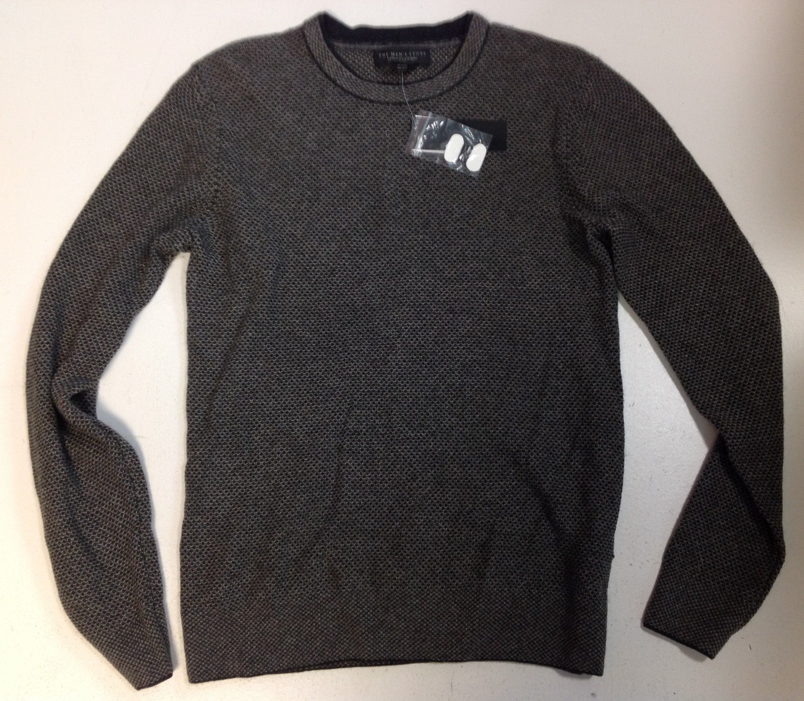 Bloomingdale's The Men's Store Wool Cashmere Birdseye Jacquard Sweater, S, $148