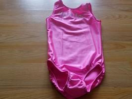 Youth Size Medium Zone Solid Bright Pink Gymstars Gymnastics Leotard EUC - $18.00