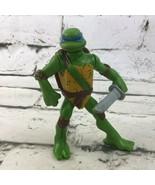 Teenage Mutant Ninja Turtles Leo Leonardo Action Figure Toy Nickelodeon - $7.91