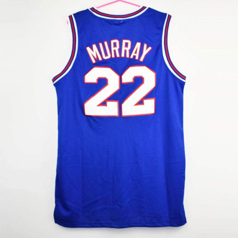 Bill Murray 22 Space Jam Jersey Shirt Squad  looney Tune  Movie Basketball Blue - $26.99