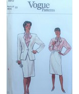 Vogue 8812 Sewing Pattern Jacket Skirt Blouse Size 10 Vintage - $8.99