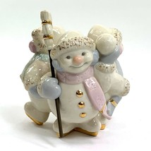 "Lenox • 3 Snowmen ""Skating by Candlelight • Candle Holder - $24.95"