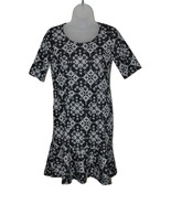 Women's Petite Short Sleeve Dress Black & White Print NY Collection PM  - $22.43
