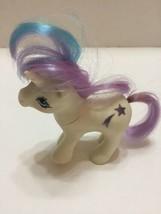 Vintage White My Little Pony 1984 Shooting Star  Purple Blue Hair Hasbro - $7.69