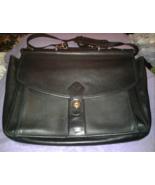 Georgetown Leather Design Vintage Messenger Bag Laptop Black Briefcase 1... - $50.00