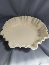 Imperial Grape 8 1/2 inch Milk Glass Crimped Bowl - Imperial Glass Co.  - $11.87