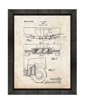 Car Bumper Patent Print Old Look with Beveled Wood Frame - $24.95+
