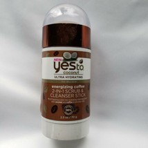 Yes to Coconut 2-in-1 Scrub & Cleanser Stick Energizing Coffee Hydrating... - $9.90