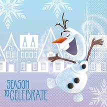 Disney Frozen Olaf Lunch Napkins Christmas Holiday Party Supplies 18 Ct - $4.54