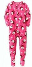 Carters 4t Girls Santa Claus Pink 1 Piece Blanket Pajamas - $4.99
