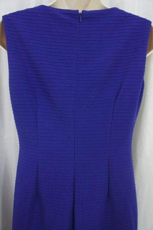 Anne Klein Dress Sz 4 Ultra Violet Purple Sleeveless Business Cocktail Party image 11