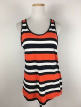 Banana Republic Women's Orange Striped Scoopneck Tank Top Shirt Size Large - $15.11