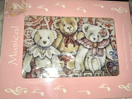 Teddy Bear Musical Picture Frame Plays Wont You Be My Teddy Bear - $14.99