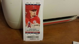 Angels 2018 Trout HR #210 Ohtani DH Full Ticket Stub 4/22/18 HISTORIC - $9.99