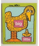1973 Playskool Sesame Street Big Bird Big & Little Bird Pre School Woode... - $18.69