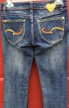 """WOMENS PEPE LONDON Stretch Blue JEANS DISTRESSED SIZE 25 Low Rise 33"""" In... - $17.60"""