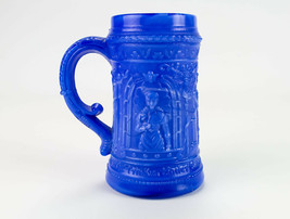 McKee Serenade Dark Blue Slag Mug, Antique EAPG c1900 Troubadour Stein 4... - $24.50