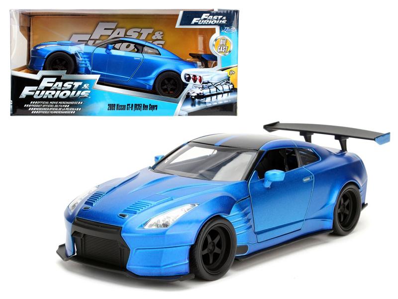 """Brian\'s 2009 Nissan GTR R35 Blue Ben Sopra \""""Fast & Furious\"""" Movie 1/24 Diecas"""