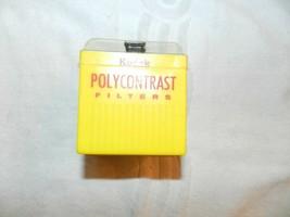 Vintage Kodak Polycontrast Filter Kit Model A With Holder Camera Darkroom 1-4 - $19.79