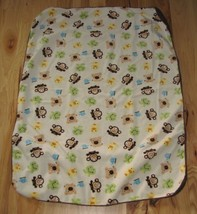 Target Circo Animal Baby Blanket Tan brown Sherpa Frog Monkey Bear Ducks - $358,56 MXN