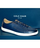 Cole Haan Men's Navy White Lining Leather Lace Fashion Sneakers Sz 12 - $128.69