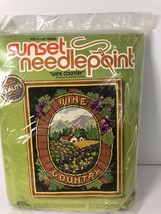 Sunset Designs Vintage 1980 Needlepoint Kit Wine Country 18 x 22 New Uno... - $49.49