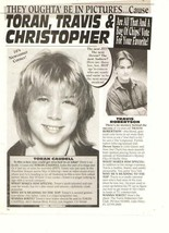 Christopher Caudell Travis Robertson teen magazine pinup clipping Max is... - $1.50
