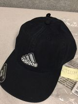 Adidas Baseball Ultimate Relax Fit Cap Hat Black Silver White -NEW- - $18.99