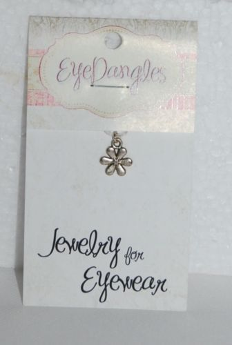 EyeDangles Jewelry Eyewear Silver Colored Flower 57022 Minis