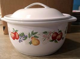"Corelle Coordinates ""Chutney"" Fruit Pattern  Covered Casserole Dish 1 1/2 Qt- Ex - $16.63"