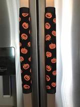 Refrigerator Door Handle Covers Set of Two Halloween Pumpkin Theme 13L X 5W - $12.99