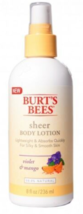 Burt's Bees Sheer Body Lotion Violet & Mango 8 oz - $9.89