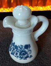 Vintage Avon  Skin-So-Soft Bath Oil Delft Blue Pitcher - $6.80