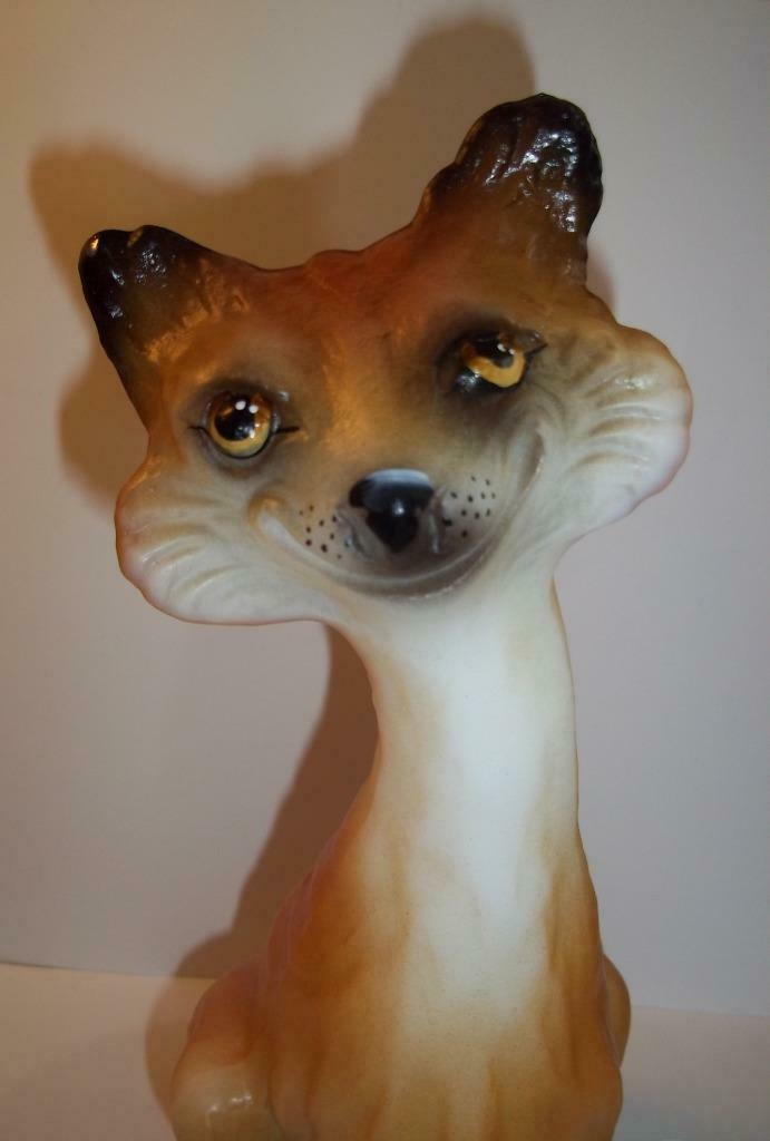 Fenton Glass Foxy the Feline Red Fox Alley Cat Figurine LE GSE Spindler 5/15