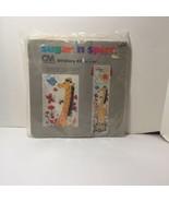 """Grow Tall Growth Chart Stitchery Kit Columbia Minerva Embroidery 10"""" x 40"""" - $11.64"""