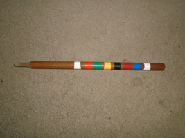 Vintage Wood Croquet small stake replacement parts 17'' high - $8.99