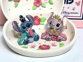 Rare! Tokyo Disney Resort Stitch & Angel Hina doll figure set Jewelry ca... - $153.45