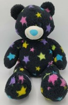 """Build-a-Bear Black Star Bear 15"""" RETIRED No Sound Pink Blue Purple Yellow Colors - $15.83"""
