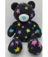 "Build-a-Bear Black Star Bear 15"" RETIRED No Sound Pink Blue Purple Yello... - $15.83"