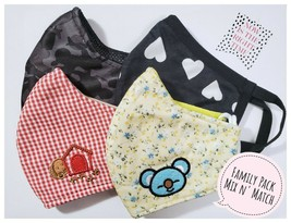 3PCS Back to School High Quality Cotton Reusable Washable Mask Kid to AD... - $12.86+