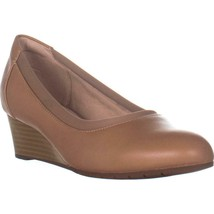 Clarks Mallory Berry Wedge Pumps, Praline Leather, 7.5 W US - $57.59