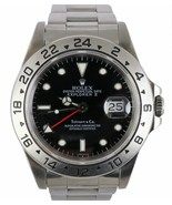 RARE 1991 Tiffany & Co. Rolex Explorer II 16570 Black Stainless 40mm Watch - $19,993.91