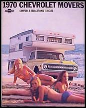 1970 Chevrolet Camper RV Motor Home Truck Brochure Xlnt - $11.96