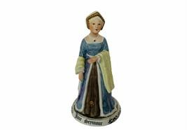 Jane Seymour Figurine Queen England A Crown Mark Ceramic vtg sculpture s... - $178.15