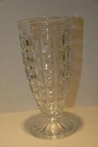 VINTAGE PARFAIT GLASS DRUGSTORE SODA FOUNTAIN STYLE HEAVY BLOCK DESIGN H... - $14.99